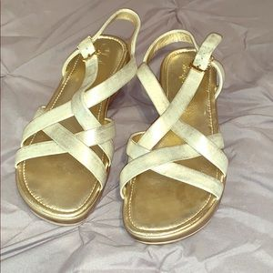 NWOT Cole Haan Nike Air gold sandal